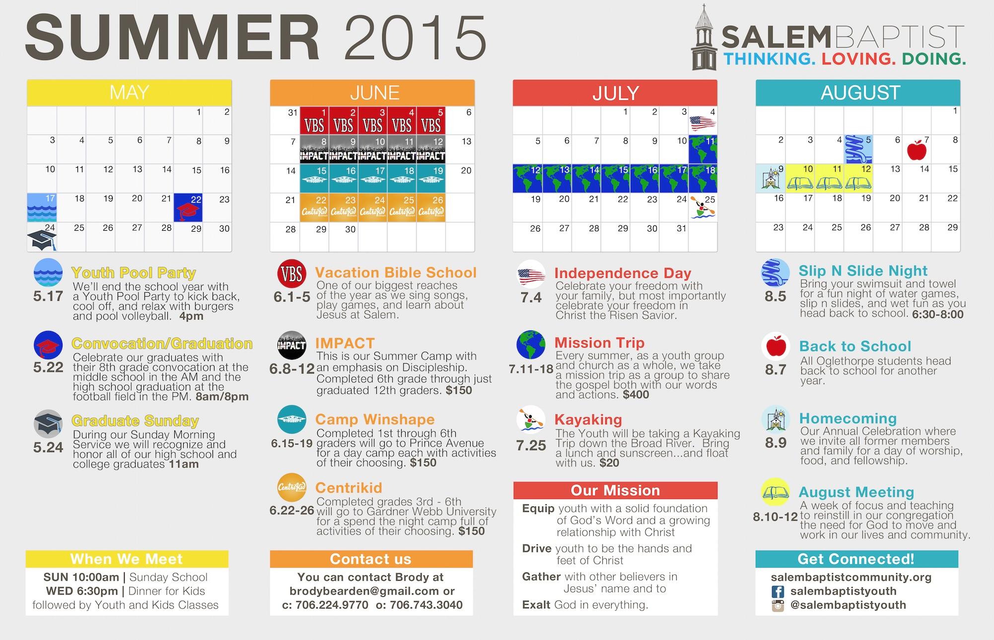 fill in calendars 2015